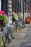 Bicycles in Edinburgh Stock Image