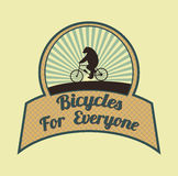 Bicycles for everyone Stock Photo