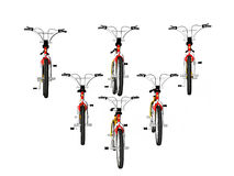 Bicycles in formation Stock Photography