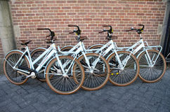 Bicycles - four bikes Royalty Free Stock Photos