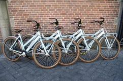 Bicycles - four bikes Royalty Free Stock Photos