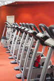 Bicycles in a gym Stock Photography