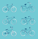 Bicycles hand drawn Royalty Free Stock Photo