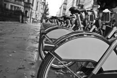 Bicycles for hire Royalty Free Stock Photography