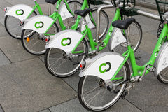 Bicycles for Hire in Liverpool, England Stock Photography