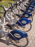 Bicycles for Hire in Valencia Stock Photo