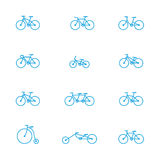 Bicycles icons Stock Image