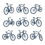 Bicycles icons Stock Photos