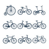 Bicycles icons Royalty Free Stock Photography