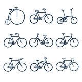 Bicycles icons Stock Images