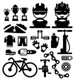 Bicycles  icons Royalty Free Stock Images