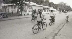 Bicycles in Lao Royalty Free Stock Photo