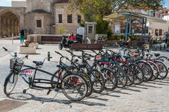 Bicycles at Larnaca Cyprus Stock Photos