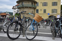 Bicycles in Lucerne, Switzerland Stock Image