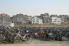 Bicycles in Maastricht Stock Photo