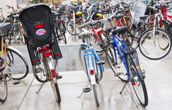 Bicycles. MALMO, SWEDEN - JUNE 29: Bicycles in the city center on June 29, 2014 in Malm Stock Photo
