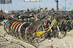 Bicycles in Mazar-e-Sharif Royalty Free Stock Photos