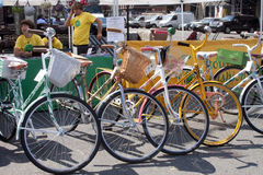 Bicycles o arrendamento em New York Fotos de Stock Royalty Free