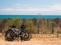 Bicycles by the ocean Royalty Free Stock Image