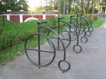 Bicycles in park Minsk Royalty Free Stock Photo