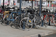 Bicycles parked Royalty Free Stock Photo