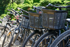 Bicycles are parked Royalty Free Stock Photo