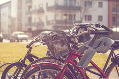 Bicycles parking Royalty Free Stock Photography