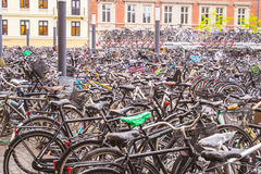 Bicycles Parking Royalty Free Stock Photo