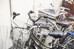 Bicycles parking in Japan Stock Photos