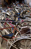 The bicycles parking lot Stock Photography