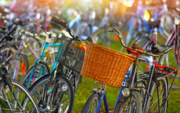 Bicycles parking lot Stock Photography