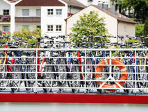 Bicycles on passenger ship Royalty Free Stock Photo