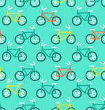 Bicycles pattern Royalty Free Stock Photos