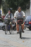 Bicycles. People use bicycles for transportation in the city of Solo, Central Java, Indonesia Stock Images