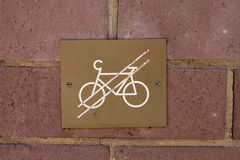 Bicycles prohibited Royalty Free Stock Photo