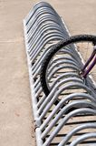 Bicycles rack Royalty Free Stock Photography