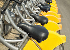 Bicycles rack Royalty Free Stock Images