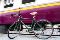 Bicycles in Railway Station Royalty Free Stock Image