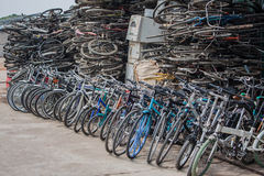 Bicycles for recycling Royalty Free Stock Image