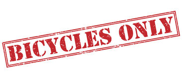 Bicycles only red stamp Royalty Free Stock Photography