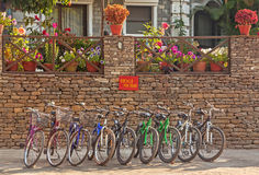 Bicycles Rent Stock Images