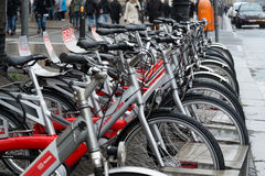 Bicycles for rent. Berlin. Germany. Royalty Free Stock Photo