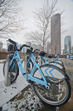 Bicycles rent in Chicago Royalty Free Stock Photo