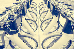 Bicycles for rent. Royalty Free Stock Photography