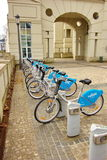 Bicycles for rent in Luxembourg Stock Photography