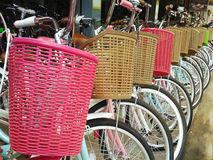 Bicycles for rent or sell Stock Photography