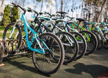 Bicycles for rent Stock Image