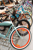 Bicycles In A Row Royalty Free Stock Photos