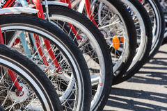 Bicycles in a row Royalty Free Stock Image