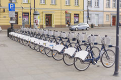 Bicycles in row Royalty Free Stock Image